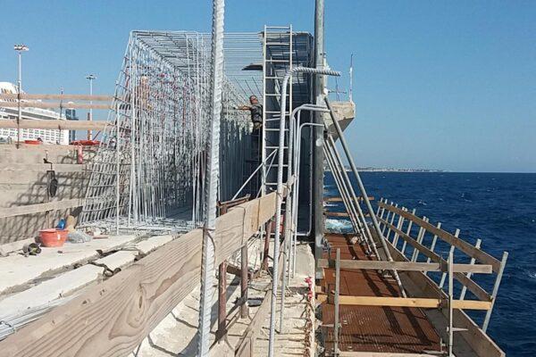 Lavori di completamento e ristrutturazione diga Porto di Civitavecchia