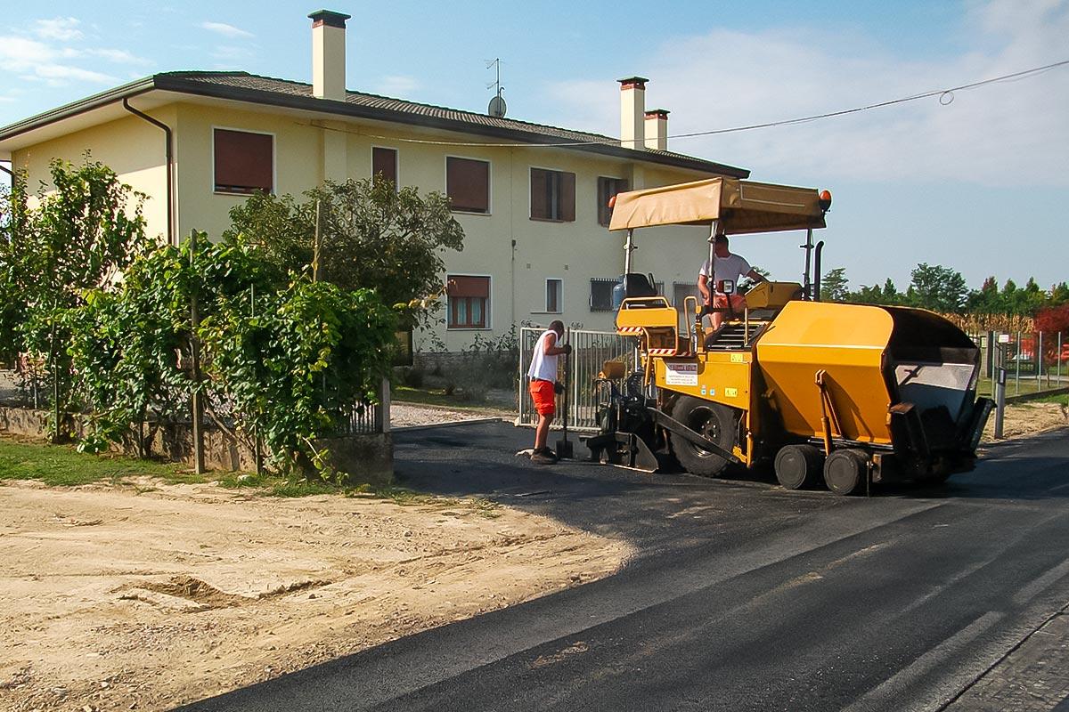 Lavori stradali strade Pasqual Zemiro
