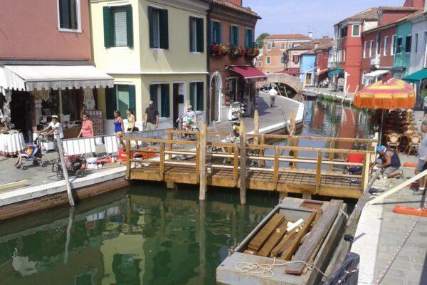 Ponte in legno Burano Venezia