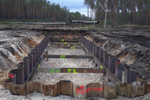 Palancolati nel cantiere di GroBenhain Germania per la posa del metanodotto