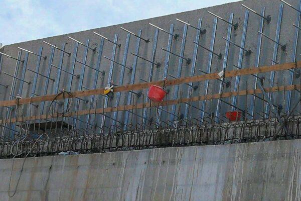 Consolidamento murario muro paraonde Civitavecchia