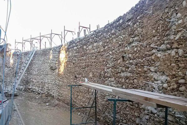 Consolidamento murature in sasso Valeggio sul Mincio